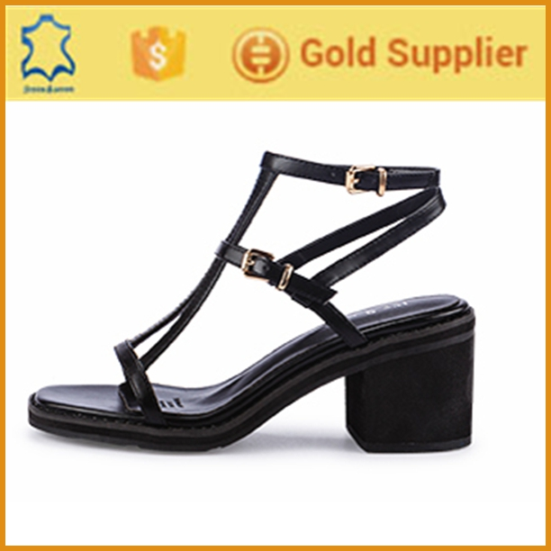 Perfect genius leather 2016 summer new style brand wedge sandals shoes