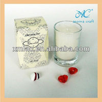 Coconut organic soy candle wax in paper gift box