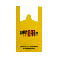 yellow plastic garbage HDPE t shirt bags