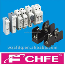 FCHFE cylindrical plastic low voltage DIN Rail mounting fuse holder for 10x38 14x51 22x58 fuse link