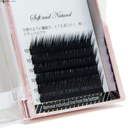 Private label I L Curl straight and curved individual eyelash extension soft natural fake eyelashes lovely baby mink lashes