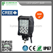 Hot Sell popular 36w multi color LED Light Bar build-in for Offroad Vehicle,Heavty Duty,Agriculture,Mining and Marine