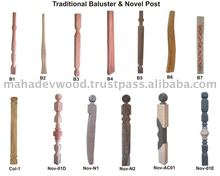 Wooden Newel Post Designs, Wooden Stair Parts At Negotiable Rate
