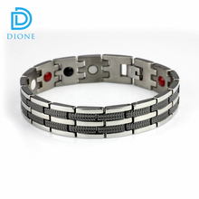 Most popular Health stainless steel and titanium energy ion power bracelet for men