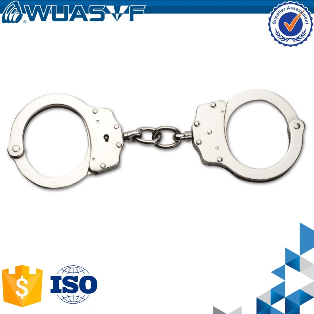 police carbon steel Handcuffs nickel plated handcuff wholesale