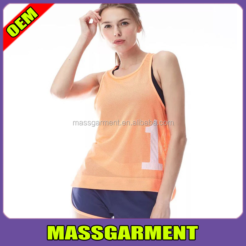 Custom quick dry running shirts team ladies mesh running wear training wholesale cheap women's vest