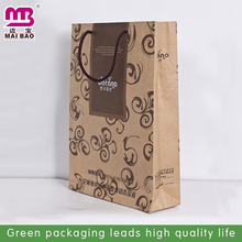 Comfortable feel eco-friendly white/brown kraft paper shopping bag factory wholesale