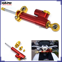 BJ-SD-001 Red CNC Alloy Universal motorcycle Adjustable steering stabilizer damper