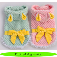 Prety coat for dog, fancy knitted dog coats, wholesale pet couture