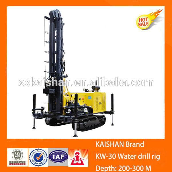 KW30 airdraulic 300M depth water well jackhammer drilling