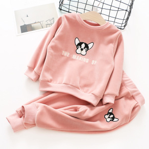 Baby Girls Clothing Sets 2017 Autumn Baby Boy Clothes Suits Long Sleeve Dog Print T-shirt+Pants 2Pcs Newborn Baby Sets