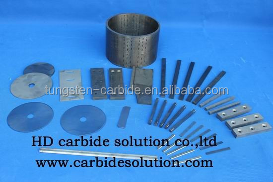Tungsten <strong>carbide</strong> inserts for paper industry