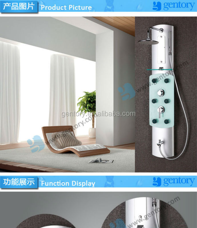 2015 Hot Selling Bath and Shower concealed thermostatic faucet Aluminu0m Alloy Shower column A070 shower panel