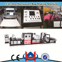 The most promotional cheap recycle pp non woven bag making machine/non woven shopping bags making machineRY
