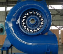 20m -300m Water Head Small Francis Hydro Turbine / Francis Water Turbine with Synchro Generator