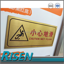 Vacuum forming abs three layer plastic sheet for CAUTION WET FLOOR