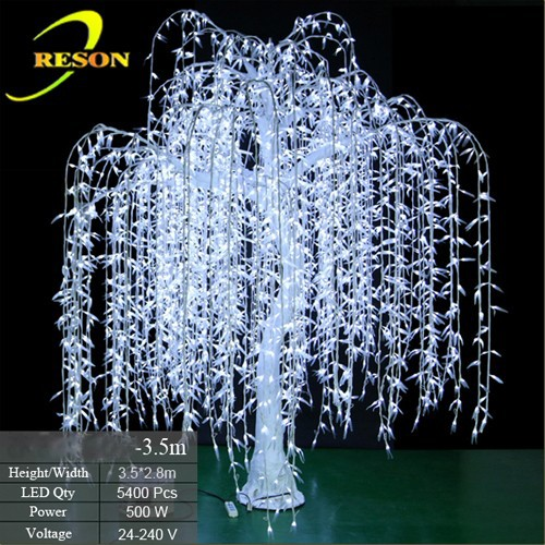 Outdoor waterproof artificial LED weeping Willow Tree lighting/ LED lighted willow tree lights