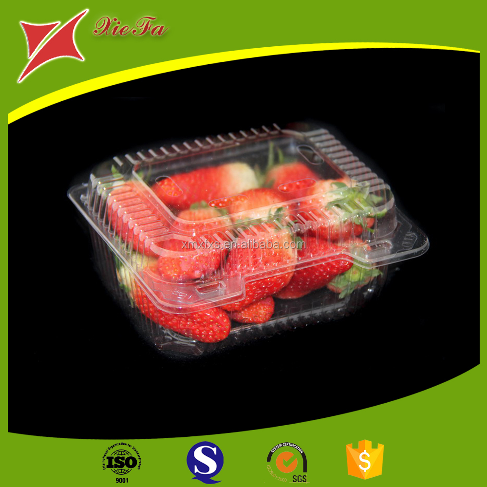Transparent strawberry apple takeaway plastic fruit packaging box