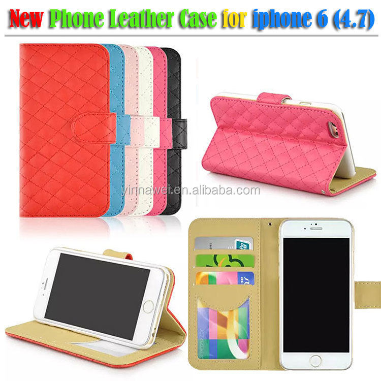 wallet leather case for iphone 6 4.7 inch flip leather case cover
