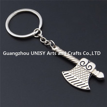 Top quality Tool Shaped Metal axe Key Chain/ruler keyring /Axe keyring key holder wholesale