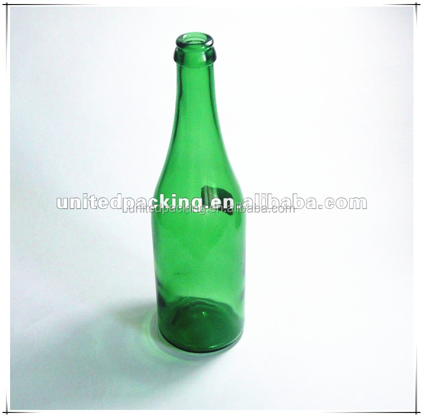Alcohol green glass bottle