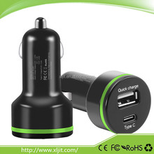 3A Qualcomm Quick Charge 2.0 Type C Fast USB Car Charger