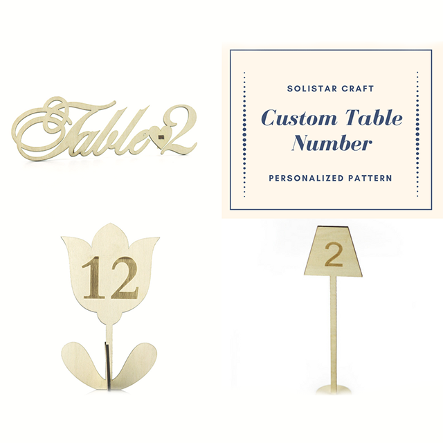 Custom Pattern Wood Restaurant Table Number Holder Buy Resturant - Custom restaurant table numbers