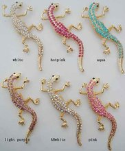 fashion jewelry, alloy rhinestones lizard costume brooch