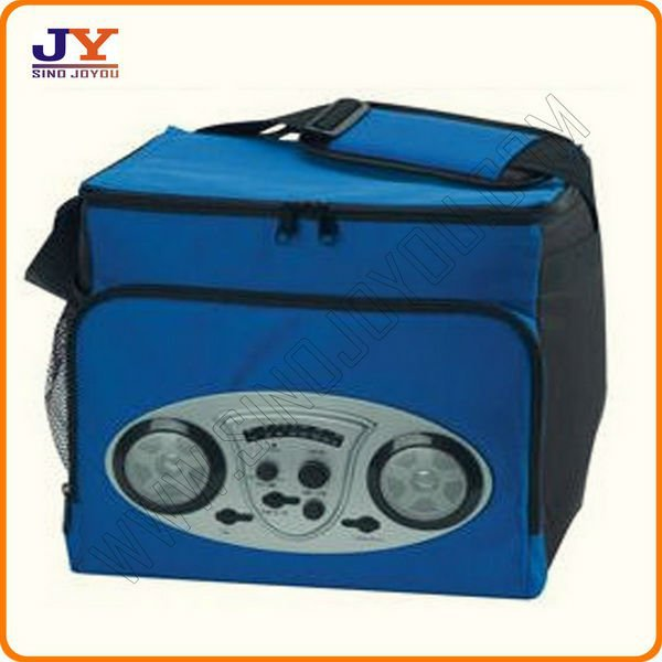 electric cooler bag with speaker insulated cooler box