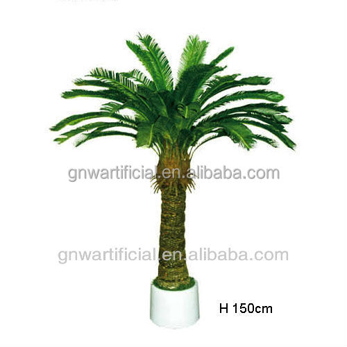 GNW G40 Small Artificial Potted Plants Garden Ornaments Miniature Plastic Palm Tree