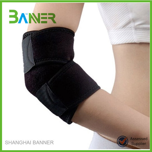 Factory made compression magnetic elbow brace