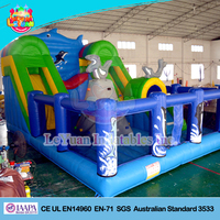 Sea Whale inflatable Air Castle/ inflatable amusement park for kids
