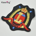 Wholesale custom embroidered crests patches for clothes