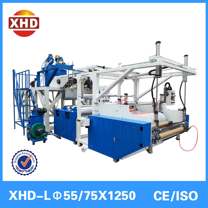 XHD 1000mm two layer pe cast stretch film extrusion machine plastic packaging film machine