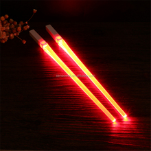 Creative 1 Pair LED Chopsticks Light Up Durable Lightweight Portable Free and Food Safe Tableware High Quality