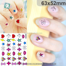 SH203/Factory Supplied High Quality Eco-friendly Printing Nail Decals Hot Designed 3D Nail Tattoo Stickers