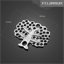 Yiwu 12993-1001 jewelry factory specializing on the tree hole pendant zinc alloy jewelry accessories factory