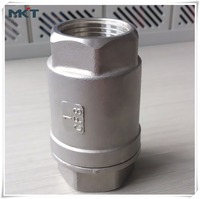 Standard Stainless Steel Female Thread Lift JIS Screwed 2PC Spring Check Valve PN40