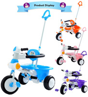 2-in-1 Kids Trike Tricycle - Blue