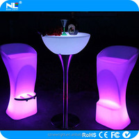 night club or bar use led table furniture /led table .Plastic led bar table .wireless control with charming light