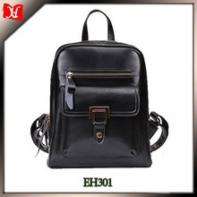 Custom High Quality Silver Hardware Women's Vintage Leather Backpack Casual Daypack for Ladies and Girls