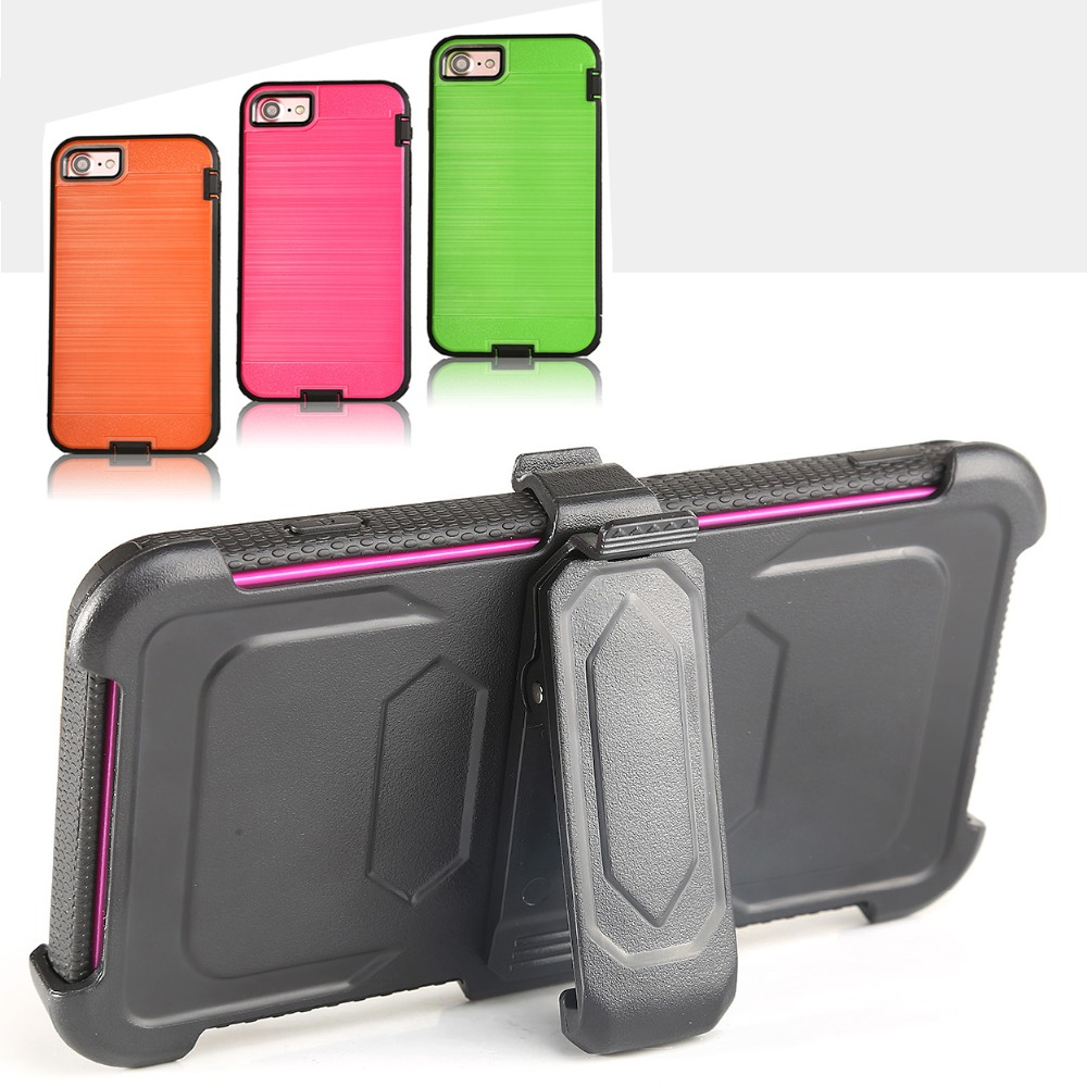 Tpu + Pc with Waist clip for boy shockproof mobile phone case for LG LV3/MS210/K8 2017