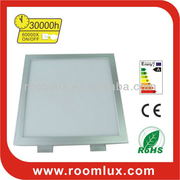 Square dimmable LED panel light 28W 600X600X12mm