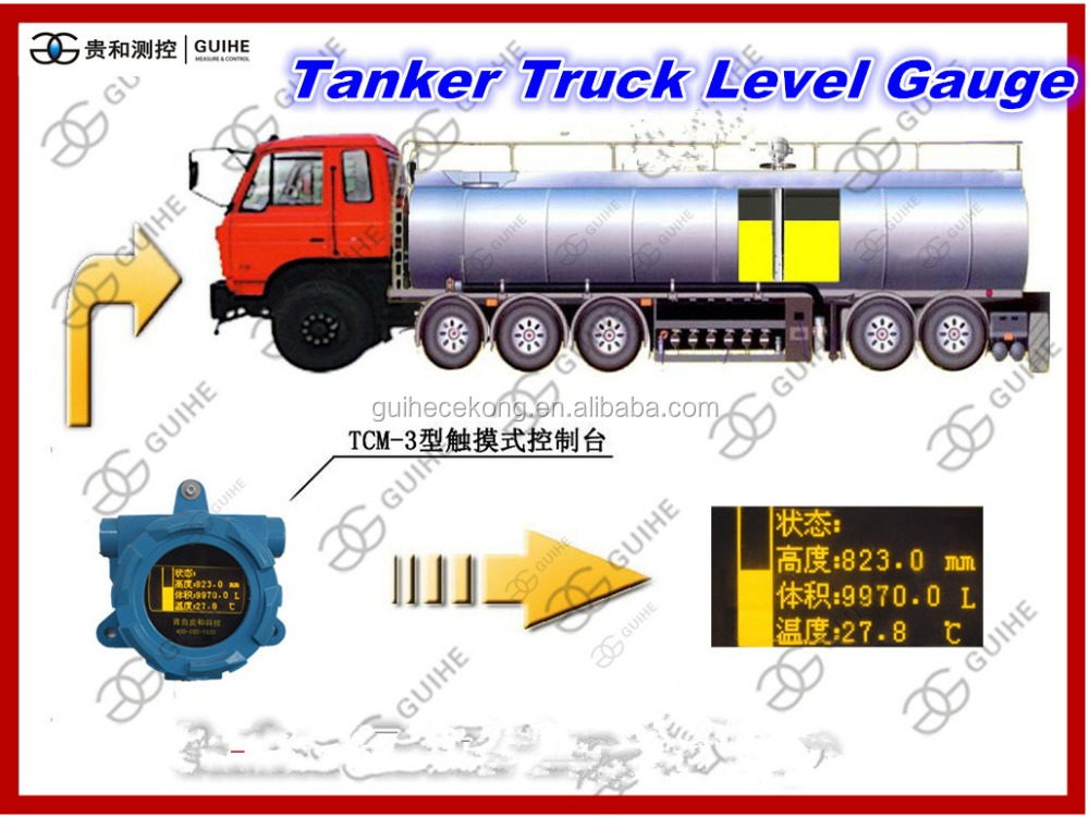Tanker truck oil level meter/automatic tank gauge /vehicle warning system