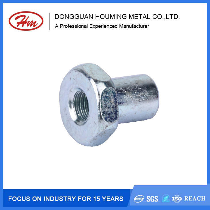 OEM flat hex head female screw bolt with internal thread
