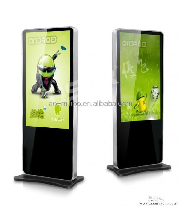65 Inch floor stand wifi/3g/internet/touch all in one lcd advertising display with 1080p full hd