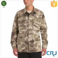 2014 New Arrive High Quality Army Woodland Camouflage Canvas Jacket