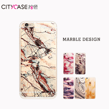 citycase 2017 Hot Selling Custom Nature Marble TPU Mobile Back Cover for iphone 6 7 7plus