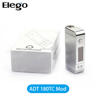 Original hot selling ADT-180TC temperature control box mod support usb charging and Ni Ti PT coil from Elego