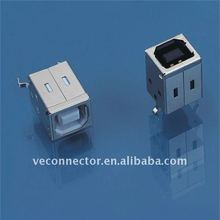 USB female connector,B type,180 degree,DIP